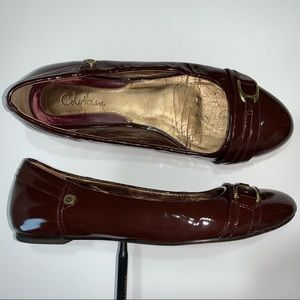 COLE HAAN NikeAir 5 1/2 BROWN Patent Leather Flats